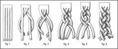Cuello o bufanda de 2 trenzas de 4 hebras, tejido a crochet con explicación detallada en español y en inglés Diy Sac Pochette, How To Make Handbags, Purses And Handbags, Four Strand Braids, Macrame Bracelets, Braided Leather, Braids Step By Step, Hair Sketch, Diy Crown