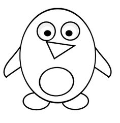 funny penguin coloring page