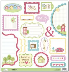 Doodlebug Design - Welcome Home Collection - Cute Cuts - 12 x 12 Cardstock Die Cuts at Scrapbook.com $1.99