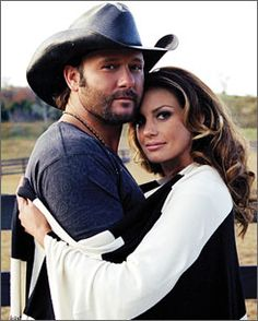 Tim McGraw & Faith Hill - Country Music legends and happily married with a beautiful family.  They are a dream team for sure.
