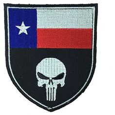 Patch Squad Men's Texas Flag Punisher Devgru Tactical Seal Team Sheild