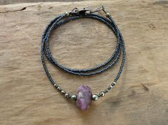 Rough Ruby Necklace  July birthstone necklace by ArtifactsEtCetera, $38.00