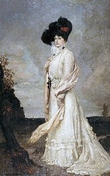 House of Worth Gown -Dame Nellie Melba GBE, born Helen Porter Mitchell, was an Australian operatic soprano. She became one of the most famous singers of the late Victorian era and the early 20th century.