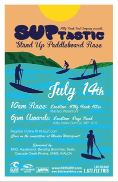 Stand Up Paddleboard Race in Manteo, North Carolina!