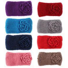 NEW FreeShipping New Knitted Headband Women Crochet Winter Flower Ear Warmer Hairband Headwrap