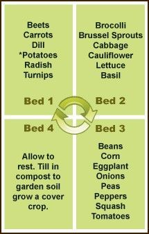 Crop Rotation-be sure to read the info here, on Organic Fertilizers, Insect Controls, ideal Plant and seed choices
