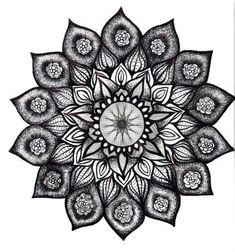lotus mandala tattoo - not big on lotus - but like the busy