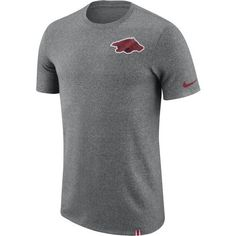 Nike Men's University of Arkansas Dry Marled Patch T-shirt (Grey Dark, Size XX Large) - NCAA Licensed Product, NCAA Men's Tops at Academy Sports
