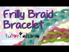 cool NEW 2 Row Frilly Braid Rainbow Loom Bracelet Tutorial