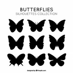 Butterflies silhouettes pack