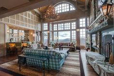 Stratton Ski House with timber frame great room, spectacular photos by Amy Thebeault Design!