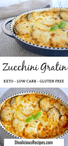 cheesy zucchini gratin makes a great low carb side dish and is easy to make. A cheesy zucchini gratin makes a great low carb side dish and is easy to make. Low Carb Side Dishes, Side Dishes Easy, Side Dish Recipes, Zucchini Side Dishes, Diabetic Side Dishes, Diet Recipes, Cooking Recipes, Healthy Recipes, Keto Veggie Recipes