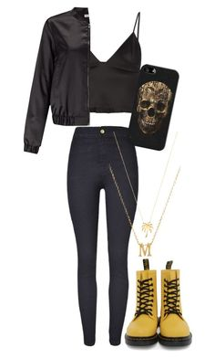 """""""Untitled #919"""" by freedom2095 ❤ liked on Polyvore featuring T By Alexander Wang, Miss Selfridge, Dr. Martens, Joolz by Martha Calvo, Gorjana and Casetify"""