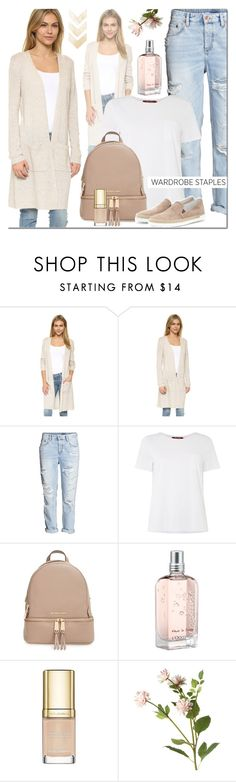 """#wardrobestaple"" by elena-starling ❤ liked on Polyvore featuring Theory, H&M, MaxMara, MICHAEL Michael Kors, L'Occitane, Dolce&Gabbana, OKA, Tod's, WardrobeStaple and WhiteT"