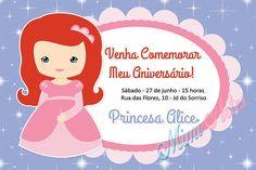 Convite Digital Princesa -Ariel
