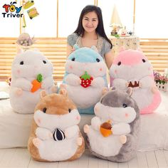 19.99$  Watch here - http://ali9bh.shopchina.info/go.php?t=32688153882 - Triver Toy cute kawaii stuffed plush hamster with snacks food toy doll baby girl boy birthday gift creative cartoon Des hamsters 19.99$ #buyonline