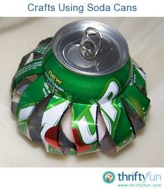This is a guide about crafts using soda cans. You have probably seen soda can crafts in your neighbor's garden, at craft fairs, and on craft web sites.