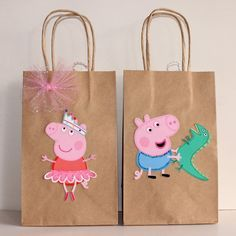 This item is unavailable – Peppa Pig Party Favor Bags by CelebrationGoods on E… Pig Birthday Cakes, 3rd Birthday Parties, Baby Birthday, George Pig Party, Cumple Peppa Pig, Party Favor Bags, Craft, Etsy, Pepper Pig Party Ideas