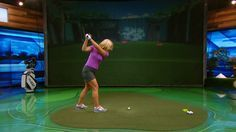 Annabel Rolley demonstrates drills to improve your pivot to avoid sliding in the golf swing.