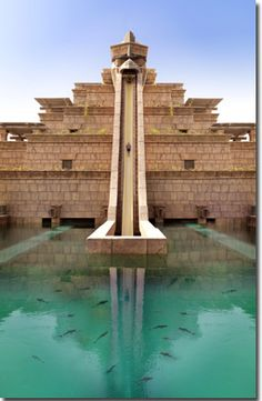 Leap of Faith slide at Aquaventure in Dubai - the pool has sharks in it. You go into a tunnel at the bottom not into the pool!!