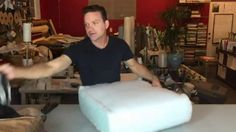 Replace the foam in your seat cushions fast and easy!  How to determine density & compression needed--how to measure, etc