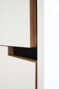 modern cut out cabinet handles