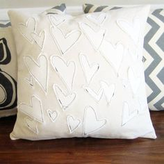 Create your own version of Anthropologie's crazy-expensive heart pillow - for next to nothing.
