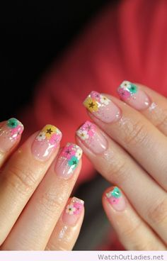 Pretty floral tips