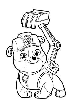 Over Paw Patrol Coloring Pages For Kids Free Printables Preschool Coloring Pages, Dog Coloring Page, Cute Coloring Pages, Cartoon Coloring Pages, Disney Coloring Pages, Animal Coloring Pages, Coloring Pages To Print, Adult Coloring Pages, Coloring Pages For Kids