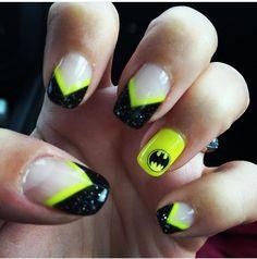 47 Best Superhero Nails Images On Pinterest Batman Nail Art