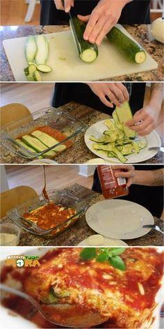 ABOBRINHA À PARMEGIANA: Uma receita com o sabor da Itália para dar água na boca de toda a família! #parmegiana #abobrinhaparmegiana #abobrinha #almoçodedomingo #receitatodahora #receita #recipe Quick Vegetarian Dinner, Going Vegetarian, Going Vegan, Ketogenic Recipes, Low Carb Recipes, Cooking Recipes, Healthy Recipes, Veggie Recipes, Vegetarian Recipes