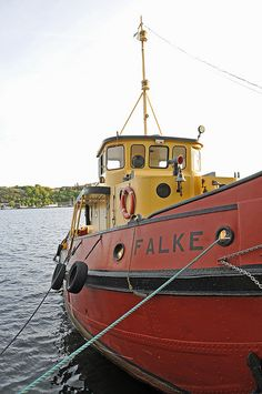 Falke was built in 1937 in Lubeck, Germany an was used to tow dredgers in German rivers. Sold to Sweden in 1954 and served as a harbour tug. - Sweden_0642 - Stockholm Ship Association by archer10 (Dennis), via Flickr