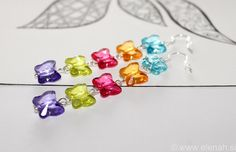 365 day project Butterfly ♥ DAY 9 ♥ butterfly earrings, plastic faceted beads