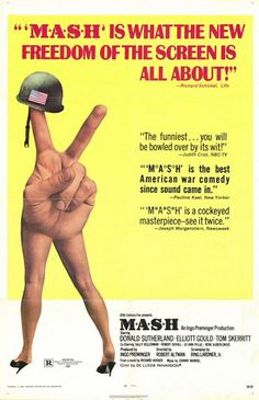 "MP470. ""MASH"" Movie Poster by Diener-Hauser (Robert Altman 1970) / #Movieposter"