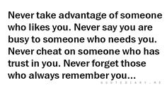 Just things to remember....