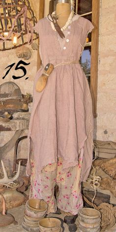 .shabby powder pink clothes