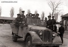Bulgarian Officers and soldiers command car Horch 901