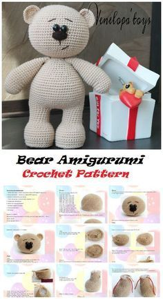 crochet bear 40 Cute Animal and Cartoon Character Amigurumi Crochet Patterns For Your Baby Part amigurumi crochet patterns; amigurumi crochet doll - Amigurumi has been a big trend in the world of crocheting for some time Crochet Bear Patterns, Crochet Bunny Pattern, Crochet Teddy, Amigurumi Patterns, Afghan Patterns, Free Crochet, Amigurumi Animals, Amigurumi Toys, Crochet Animals
