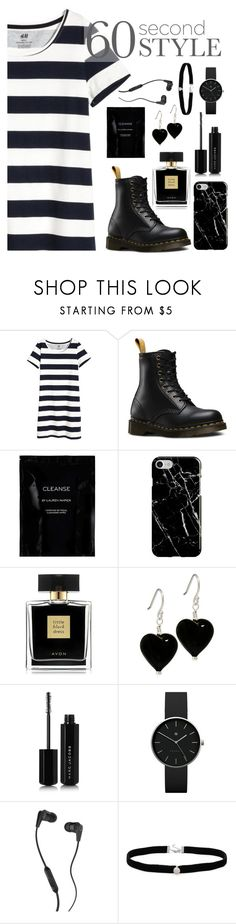"""""""60 second style- Tshirt dress !"""" by sunshinelarry ❤ liked on Polyvore featuring Dr. Martens, Cleanse by Lauren Napier, Recover, Avon, Marc Jacobs, Newgate, Skullcandy, Amanda Rose Collection, tshirtdresses and 60secondstyle"""