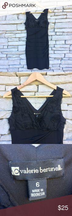 VALERIE BERTINELLI Black Sleevless Bodycon Dress Size 6  Excellent condition Valerie Bertinelli Dresses
