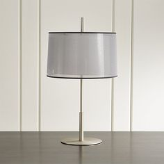 Add style, sophistication and light to your room with table lamps from Crate and Barrel. Browse styles for living room, bedside, desk and more. Silver Table Lamps, Silver Lamp, White Table Lamp, Contemporary Table Lamps, Fabric Shades, Crate And Barrel, Steel Frame, Crates, The Help