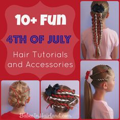 4th of July Hair & Accessory Roundup from BabesInHairland.com -- #4thofjuly #accessories #hairstyles #redwhiteandblue #july