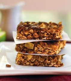 Caramel Apple Oat Bars (Dairy-Free, Gluten-Free, Vegan, Allergy-Friendly)