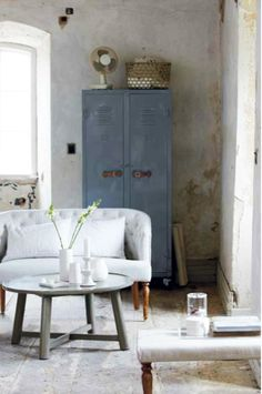Industriële locker #industrial #interior