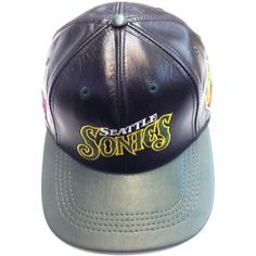 Seattle Sonics, LOGO TEAM NFL BASEBALL LEATHER CAP Available at the LEATHER collection www.theLEATHERcollection.net