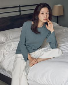 """Lee Bo Young, who is currently staring in SBS's thriller """"Whisper"""", was chosen to model the 2017 Spring/Summer collection of Daniel Hechter. We think she looks amazing, check it o… Lee Bo Young, Korean Actresses, Korean Actors, Korean Women, Korean Girl, Yoo Ah In, Moon Chae Won, Joo Won, Korean Star"""