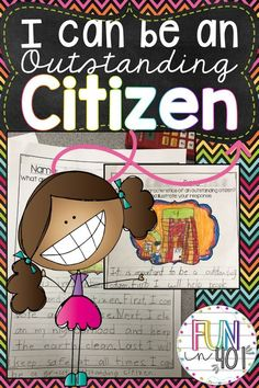 Use this adorable packet when teaching citizenship to your little learners! It comes with: An explanation of what an outstanding citizen looks like. What does an outstanding citizen look like, what do Teaching Citizenship, Citizenship Activities, Citizenship Lessons, Social Studies Activities, Writing Activities, Learning Resources, Teaching Ideas, Thing 1, Kindergarten Literacy