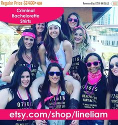 ENDS AT 12AM Criminal bridesmaidbridesmaid shirts by LineLiam