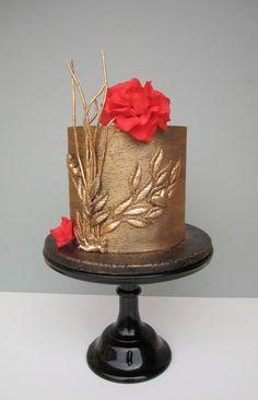 Birthday cake by daruj tortu Amazing Wedding Cakes, Fall Wedding Cakes, Wedding Cake Designs, Elegant Birthday Cakes, 40th Birthday Cakes, Birthday Wishes, Happy Birthday, Pretty Cakes, Beautiful Cakes