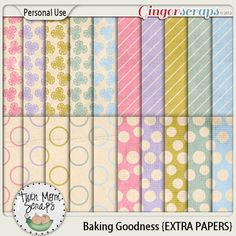 From TwinMomScraps Baking Goodness EXTRA PAPERS %35 Off! http://store.gingerscraps.net/Baking-Goodness-EXTRA-PAPERS.html. 16/08/2013